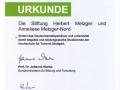 Urkunde Deutschlandstipendium
