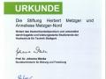 Stiftungsurkunde Deutschlandstipendium_2016